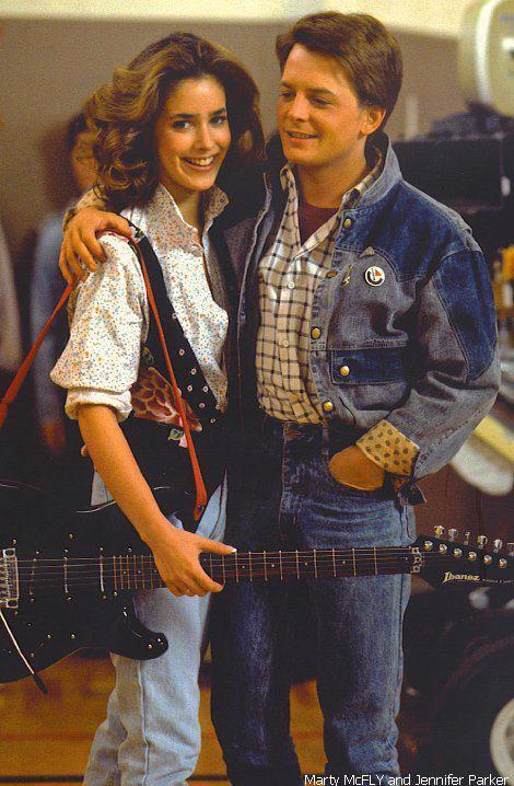 ilovemichaelandrewjfoxforeverx:  Marty mcfly and Jennifer Parker