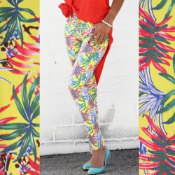 Tropical Skinnies $28 🌴  SHOP MICKEYSGIRL.COM