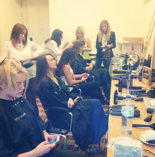 teamclairecooper:  Claire earlier today getting ready for the Soap Awards. Source