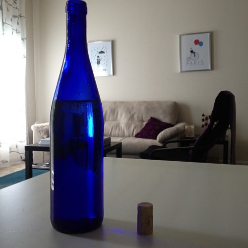#winebottle looks so chic with water now ;)