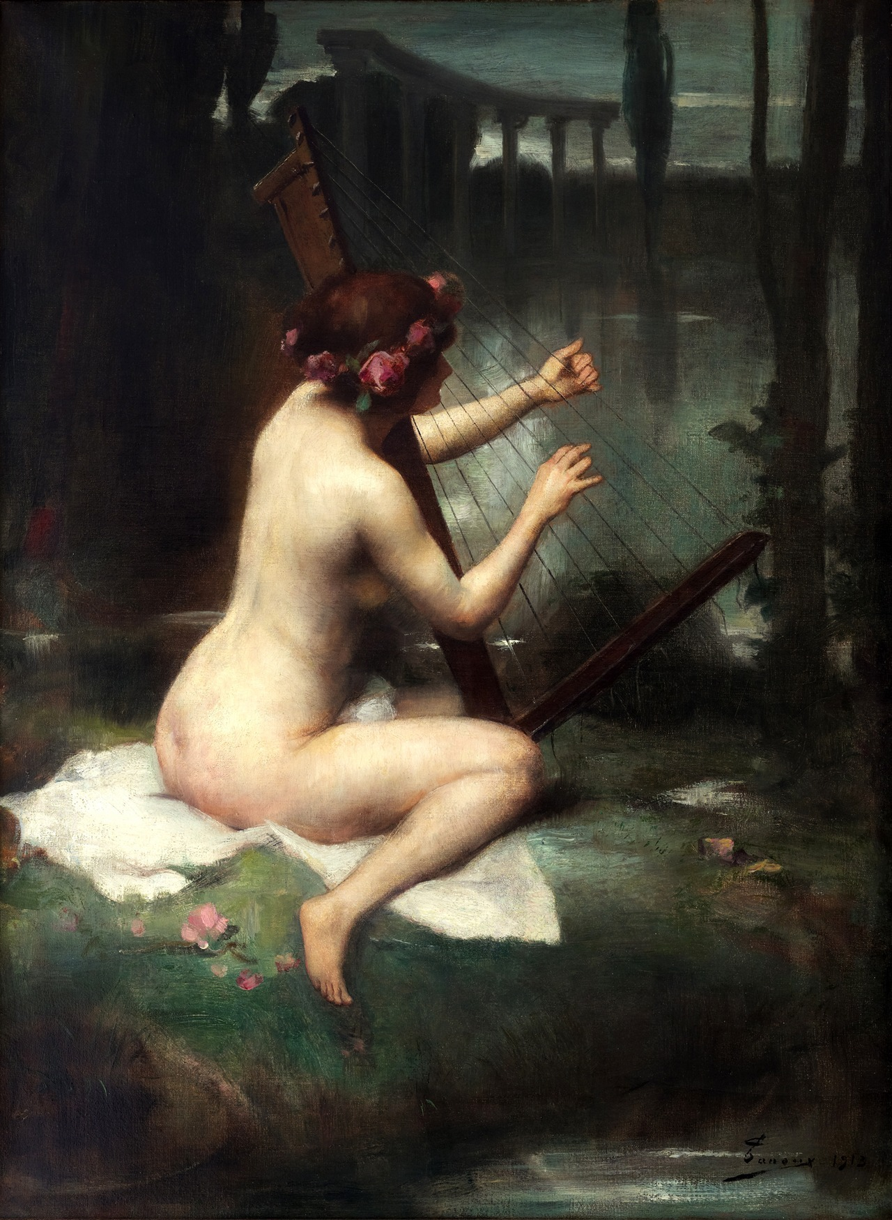 23silence:  Adrien Henri Tanoux (1865-1923) - The Harp Player