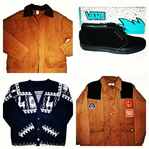 Just in at Petaluma Supply Co. Vintage Hunting Jackets, NOS Vans and a one-of-a-kind Alpaca Sweater. Available at www.petalumasupplyco.com