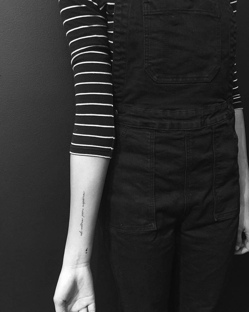 """Little Tattoos — """"Per aspera ad astra"""" tattoo on the right inner... - Per Aspera Ad Astra Tattoo"""