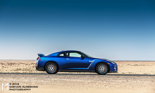 Strange encounter in the desert Starring: Nissan GT-R (by Mishari Al-Reshaid Photography)