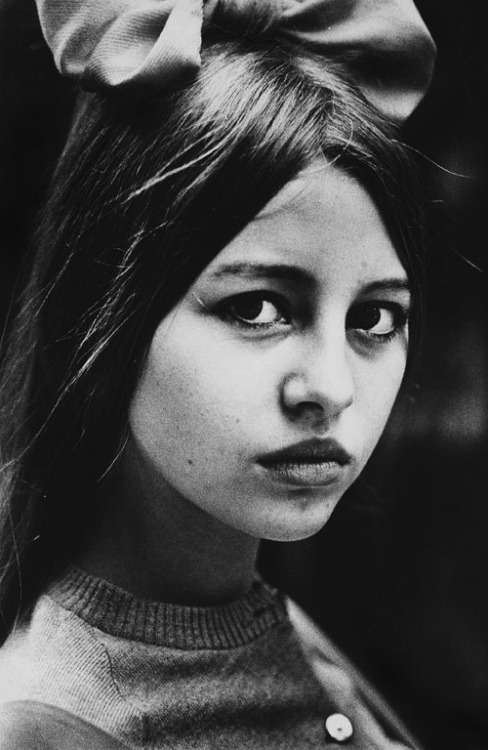 lauramcphee:  Portrait of a young girl, c1965 (Ed van der Elsken)