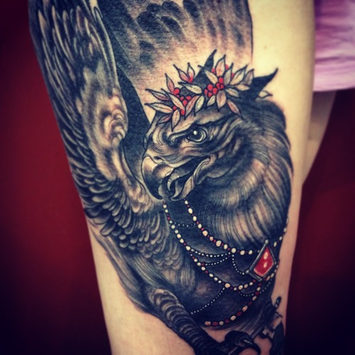 greggletron:  Did this one at Seventh Son Tattoo, in San Francisco a few days ago, had the absolute best time at Seventh Son, what an awesome experience! - Greggletron