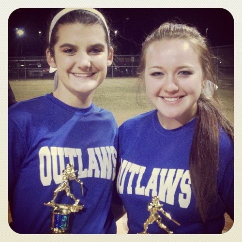 Me and my girl! @bridgetmeeler #tournament #softball #championship #firstplace