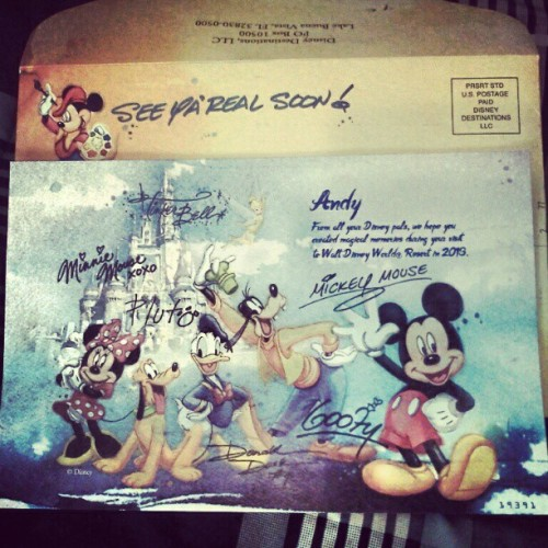 Received a letter from Mickey & friends! They even autographed it! BFFS #disney #meow #yes