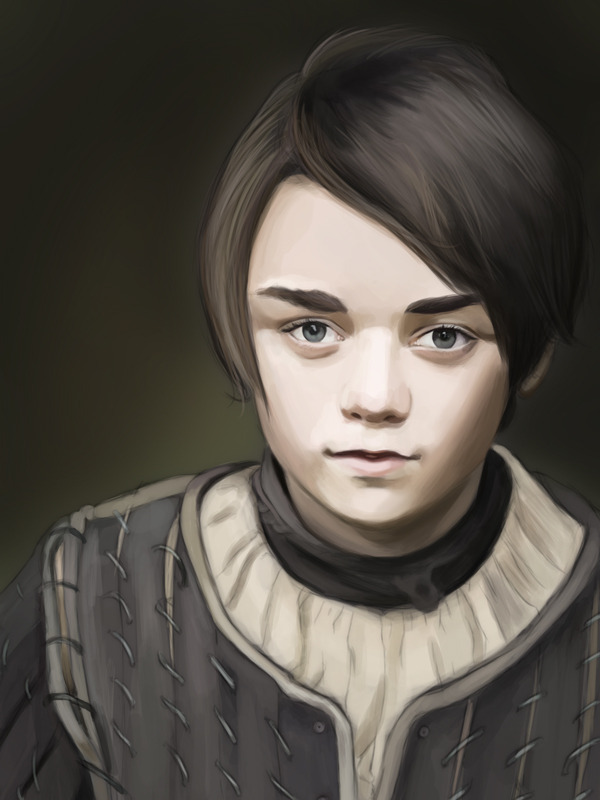 The result of a two hour livestream. Will finish sooner or later. Arya Stark.