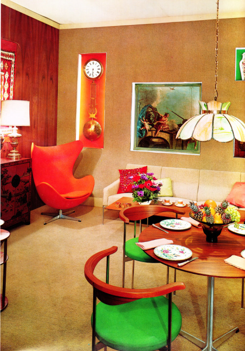 theswinginsixties:  1965 living room design by Jose Wilson and Arthur Leaman.