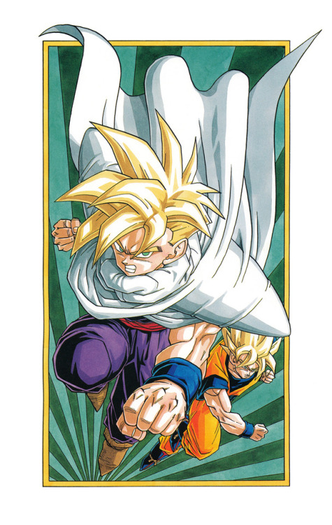 Akira Toriyama exhibition artbook scan Dragon Ball Son Gohan Son Goku
