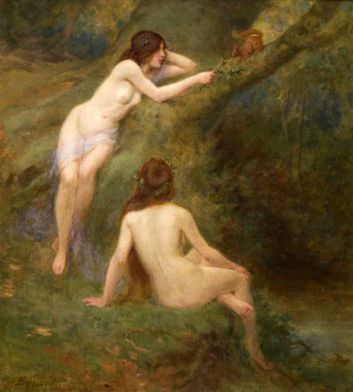wasbella102:  George Henry Edwards (1859 – 1918, English) - Nude Girls In A Wood andrej33: