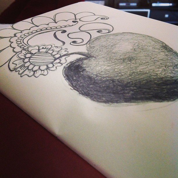 Apple #graphite #experiment #mhendi #drawing #sketch