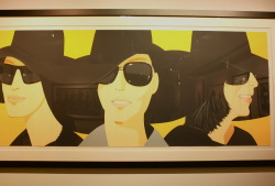 @NY Art exhibition opening.  This Alex Katz artwork reminds me of my signature trilby and my Linda Farrow black shades.