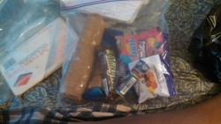 Studying for my finals  Moms handed me a bag full of munchies Apparently my mom is better than yours..