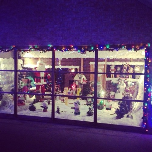 Most amazing Christmas setup I've ever seen in a home. (at North Pole Express Light Display)