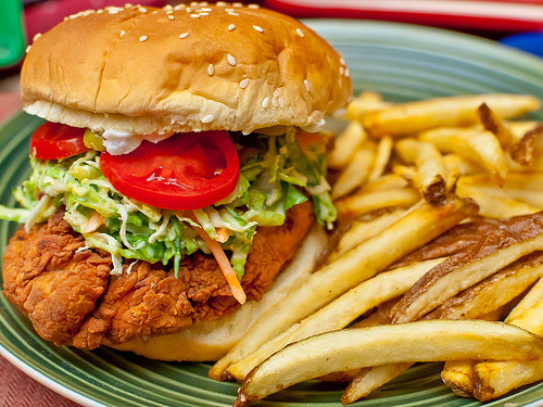 foodescapades:  Twice Fried Chicken Sandwich
