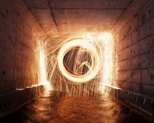 Hell's Gate on Flickr.Second attempt at Spinning steel wool.. This time in the bowls of a water run off canal under the Palisades Interstate Parkway.. Standing in about 3 inches of water, but totally worth it.