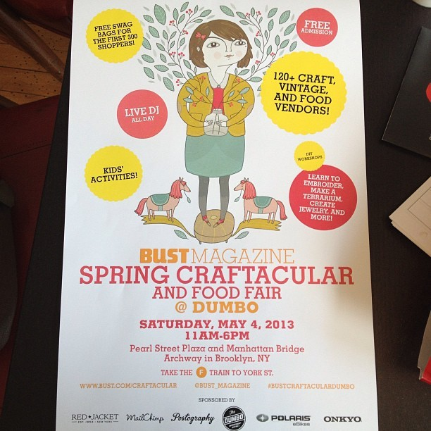 Super cute posters came in today! art by @ankeweckmann #dumbo #craftacular May 4th (at Bust HQ)
