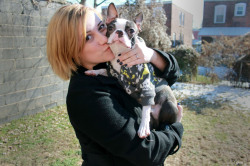 baxtertheboston:  Kisses forever.  me and my baby.