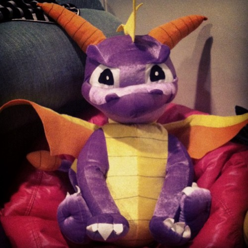 Be jealous if my #spyro #plushie #cus #its #awesome #video #games #ps
