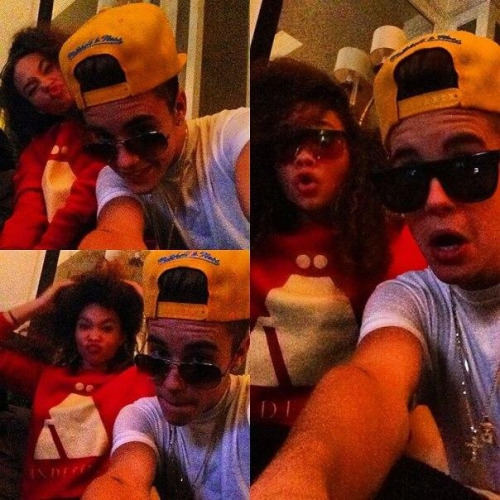 Justin and model; Ashley Moore!