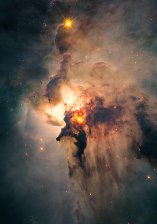 levantineviper:  The Lagoon Nebula in the constellation Sagittarius  Image credit: NASA/ESA Hubble Space Telescope