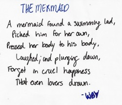sarelyrics:  The Mermaid by William Butler Yeats