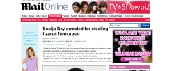 whiteboywaves:  'Soulja Boy arrested for stealing lizards from a zoo'