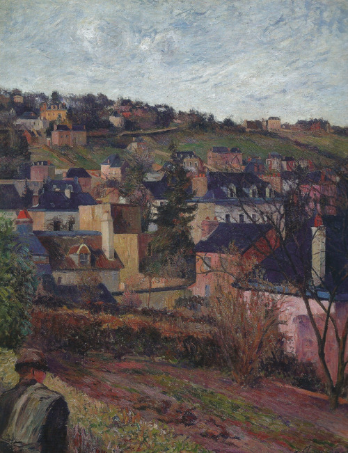 alongtimealone:  Paul Gauguin - Blue Roofs (Rouen), 1884 at Oskar Reinhart Art Collection Winterthur Switzerland (by mbell1975)