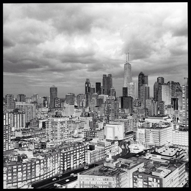 04.25.13 #solar #chicago #skyline #photography #blackandwhite