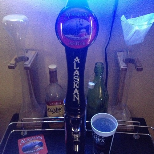 #Alaskan #Amber #Ale in the #kegerator #nofilter #Blue #Moon #neon #beer #delicious
