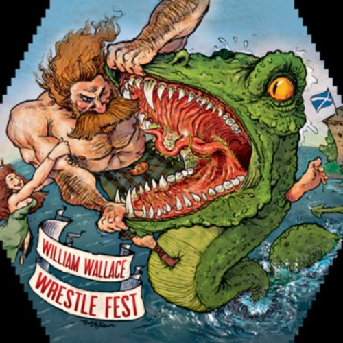 New William Wallace Wrestle Fest design submission for our scotch ale label design challenge by @doodlematt Voting begins soon on our facebook page and arcadebrewery.com #beer #craftbeer #scotch #publicbrew #craftbeer #design #beerlabel