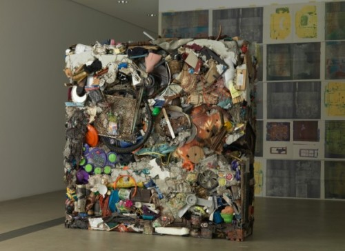 Gordon Matta-Clark, A recreation of Garbage Wall at the 2009 solo exhibition Urban Alchemy/Gordon Matta-Clark at the Pulitzer Foundation for the Arts, St. Louis, Missouri, 2009.