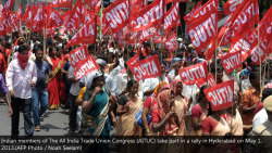 Mayday protest in Hyderabed India