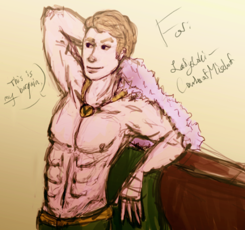 LOLSO this is for Lady Loki 'cause she drew her muse for me like this, hehe, sorry stevie.