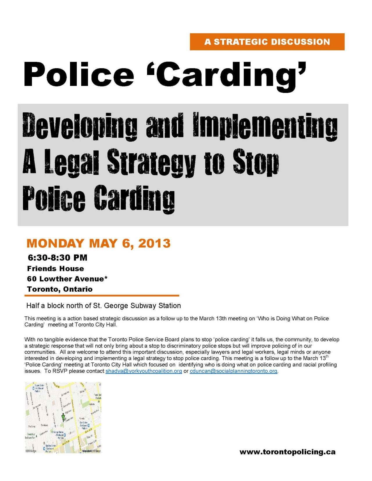 'Police Carding': Developing and Implementing a legal strategy to stop police carding