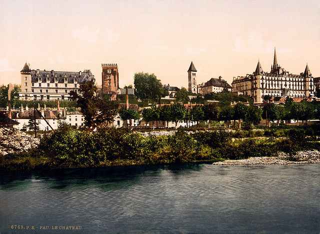 | ♕ |  Château village Pau - Aquitaine, France © Library of Congress | via trialsanderrors