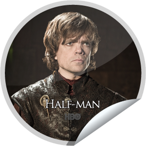I just unlocked the Game of Thrones: Half Man sticker on GetGlue                      19794 others have also unlocked the Game of Thrones: Half Man sticker on GetGlue.com                  One small fan can cast a very large shadow. You're a big Game of Thrones fan, that's 10 check-ins.  Share this one proudly. It's from our friends at HBO.