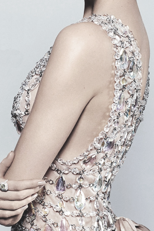 "Detail of Prada dress designed by Miuccia Prada for ""The Great Gatsby"" 