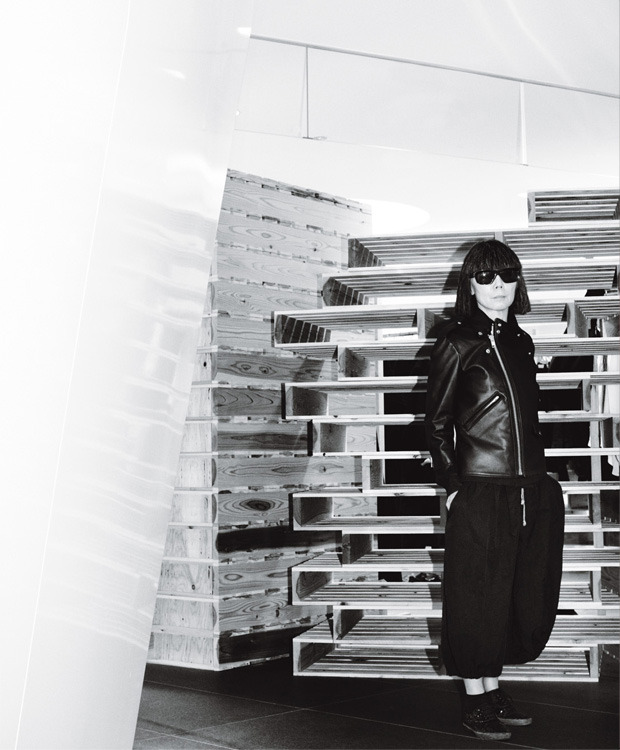 "Chaos Theory     Rei Kawakubo of Comme des Garçons says she isn't out to break the rules. That doesn't mean she hasn't left plenty of them crumbled in her wake  Interview by Matthew Schneier. Portrait by Mario Testino  MS: Do you believe there are rules in fashion? Do you consider yourself to be a rule breaker? RK: I'm not interested in rules, or whether they are there or not. I do not consciously set out to break rules. I only make clothes that I myself feel are beautiful or good-looking. People maybe say that this way of feeling is against the rules. MS: You've spoken occasionally about the constant need for newness in your work. Is newness the ultimate goal of design? How would you rank it relative to function and beauty? RK: What new means to me is something that doesn't exist already and that I haven't seen before. The image I have made once is already no longer new to me, so you could say the goal is not to be found in eternity. Beauty and function are different things, but luckily they have a mutual connection. But the fundamental values around which I built CDG, i.e., creation and new, have no connection to beauty and function. MS: Do you feel that the fashion industry has become too corporate? RK: The corporateness of the fashion industry tends to take away or distort the freedom of creation. MS: Comme des Garçons is an independent exception. What are the benefits of independence? What are the downsides? RK: The benefit is that I am free, and I don't take notice of the downsides. MS: Given the state of the fashion world today, do you think a designer could start out independently, as you did, and maintain that independence even while growing to a global scale? Is the world today as hospitable to designers as it was when you began? RK: I think the fashion world has never been a comfortable, easy place to be in. I mean, in terms of always having to fight to be free to make what one wants. MS: Where do you see the next great designer coming from? RK: ??? MS: When you first decided to show in Paris, were you apprehensive about what the reaction would be? Did the reaction you received surprise you? RK: I always had good reactions from people with a good eye and a vision…and very terrible reactions from those who are afraid of people who are different to others—at the beginning and even now. I have never worried about it too much. MS: You are one of a handful of designers who generally prefer not to give interviews. Does fashion—either all fashion or your own fashion—lose something in the explanation? RK: I don't like to explain the clothes, how I made them, the theme, et cetera. It's because the clothes are just as you see them and feel them. That's what I want…just see and feel them. How I thought about them, where any idea came from, what the process is, is not something I like talking about to people. MS: You have a reputation for seriousness, but in private, I've heard it said that you are very funny. And your collections are distinguished in part by their wit. Is humor an important component of your work and your process? RK: Nothing to do with the work. The path to making things is tough. The process allows no margin for being funny. It is like a hand-to-mouth world. MS: You come to New York rarely, but you'll be traveling here more this year to design and then to unveil the newest Dover Street Market. What are your impressions of the city so far, relative to Tokyo or Paris? RK: Nothing special. Wherever I go, my work is one…the same. MS: At your Dover Street Market stores, you showcase the work of other designers as well as your own. Why is that important to you? RK: I have always liked the idea of synergy and accident…the idea of sharing space with other creative people or people who have something to say. We call it beautiful chaos…anything can happen, nothing is decided. MS: Fashion is taking another look at punk this year, as the subject of the annual Costume Institute exhibition. What does punk mean to you? RK: The spirit of punk lies in not ingratiating oneself to preordained values nor accepting standard authority. MS: Some have complained that fashion has stagnated; you yourself have said that the media has enabled uninteresting fashion to thrive. Can this situation change? What would allow that to happen? RK: I doubt the situation can change. It's because in the world where money rules, the appreciation of the value of true creation is low. MS: Are advertisers too powerful now in the way that they dictate fashion coverage? RK: Yes. MS: Your Fall 2012 ""flat"" collection has been incredibly influential, and many are noting elements of it reverberating through several Fall '13 collections. Are you aware of this borrowing? Do you consider imitation the sincerest form of flattery, or disappointing? RK: I am not really aware of this and not too interested either. MS: How would you like to be remembered? RK: I want to be forgotten.  (style.com)"