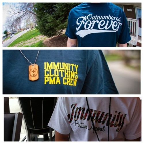 You can grab any or all of these shirts (or tags!) at www.shopimmunity.com !