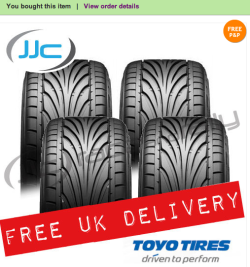 Just purchased a set of Toyo Proxes T1-R's for my BBS RS's :).  The Toyo T1-R is the natural choice for enthusiastic, performance car drivers and is available in a wide range of sizes. It has been developed from the extremely popular T1-S and is outstanding for all types of performance road driving The Toyo Proxes T1-R boasts a special performance compound and tread pattern which gives incredible road holding in all conditions, especially in the wet. The V-Shaped grooves in the tread pattern pump water away allowing the rubber to grip the road. These are bounded by circumferential grooves which allow the Proxes T1-R to give you even better wet grip whilst being quieter and longer lasting. These design elements are not just practical, they also make the tyre look spectacular. Extensive testing has been conducted at Toyo's own proving ground in Japan as well as the UK to ensure the tyres perform at their best in all road conditions. Toyo are one of the world's leading tyre producers, so when you buy a Toyo tyre, you can be confident that you're buying one of the best