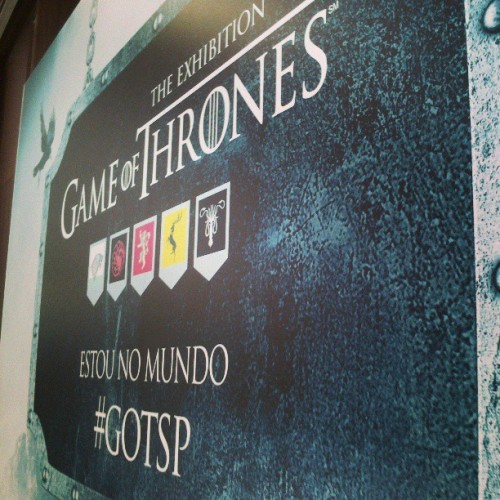 #gotsp #gotbr  (em Game of Thrones - The Exhibition)