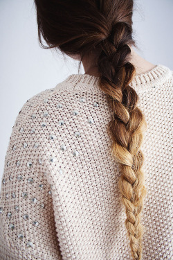 braid dipdye knitwear