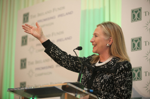quickhits:  Poll: Hillary Clinton owns 2016.  Political Wire: A new Quinnipiac poll finds Hillary Clinton tops the presidential 2016 field in hypothetical matchups with Chris Christie, 45% to 37%, Paul Ryan 50 to 38%, and Marco Rubio 50 to 34%.  [photo via Titanic Belfast]  At this point, what's the harm in letting Donald Trump run?