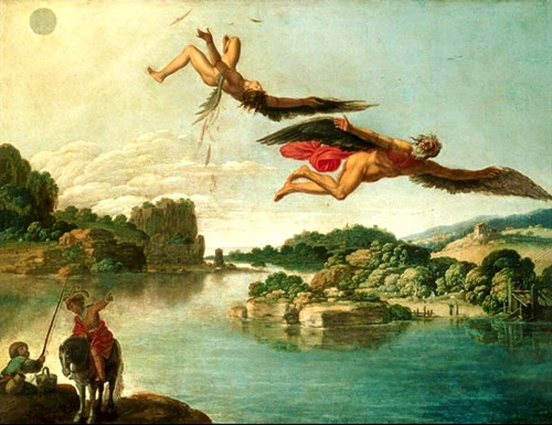 Carlo Saraceni, The Fall of Icarus, c. 1606-7