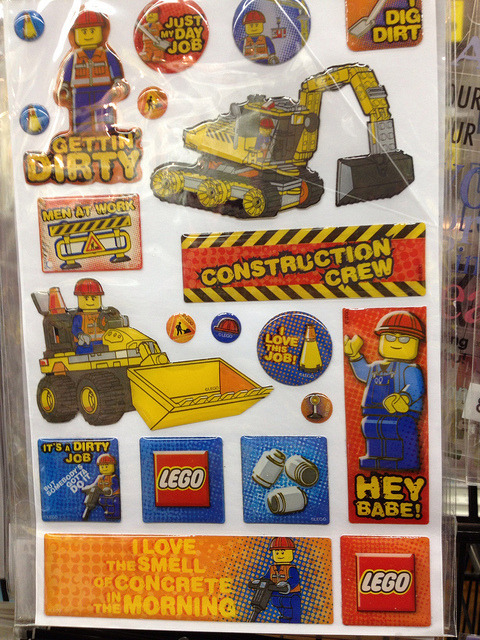 "jcstearns:  Dear LEGO - Take the Street Harassment Out of Your Stickers My son is just getting into Legos, so I thought he'd love these stickers. Then I took a closer look and saw that one of the construction workers (the only one wearing ""cool"" sunglasses) was labeled ""Hey Babe!"" I was stunned. Maybe it's the fact that I just saw the team at Hollaback speak this month, or maybe it is that this is Sexual Assault Awareness Month, or maybe it is just that street harassment sucks. But chances are it was all three of these things that made me so mad to see a brand I love pushing this sort of thing. The Hollaback website notes that street harassment is the most prevalent form of sexual violence for both men and women in the United States. Internationally, they point out, ""studies show that between 70-99% of women experience street harassment at some point during their lives."" Lego hasn't really been on a roll recently when it comes to gender and its toys. See for example this post over at Ms. Magazine that picks apart the images of beauty in Lego's new line of toys for girls (and check out the great ad from 1981 to see how far they have fallen). Needless to say, I didn't buy the stickers.  (UPDATE: LEGO has responded to the concern over these stickers - Read more)"