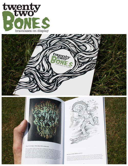 Twenty Two Bones: braincases on displayArt Exhibition Catalogue While at Rutgers, for Communications Design II, we were given the task of creating a fictional art exhibit. The only constraint, was that every piece in the exhibit needed to have a common theme. The themeI chose, was the human skull. The human skull is comprised of twenty two bones, hence the name of the exhibition. From there, I chose numerous pieces to be include in my exhibit, ranging in mixed medias. Included above, is the logo, the cover of the catalogue, and a spread from the catalogue.