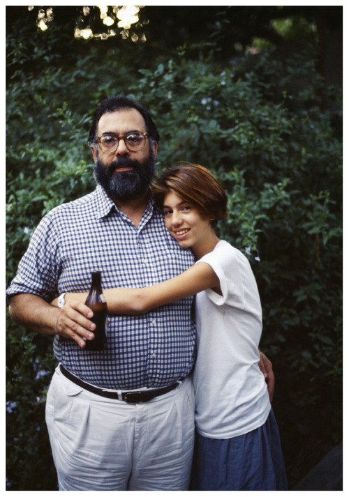 suicideblonde:  Francis Ford Coppola and his daughter Sofia photographed by Albane Navizet in 1984